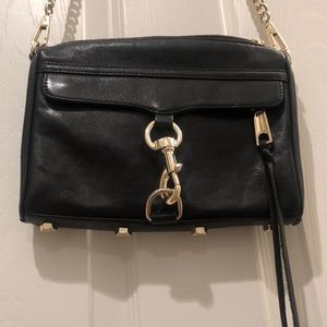Black Rebecca Minkoff mini Mac crossbody